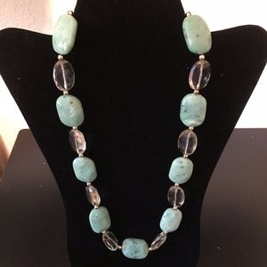 Green stone Necklace. Add this to your bundle!